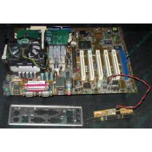 Материнская плата Asus P4PE (FireWire) с процессором Intel Pentium-4 2.4GHz s.478 и памятью 768Mb DDR1 Б/У (Ногинск)